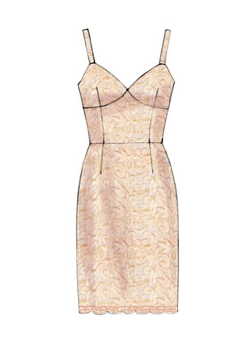 M6833 | McCall\'s Patterns | Sewing Patterns | 结构款式图 | Pinterest