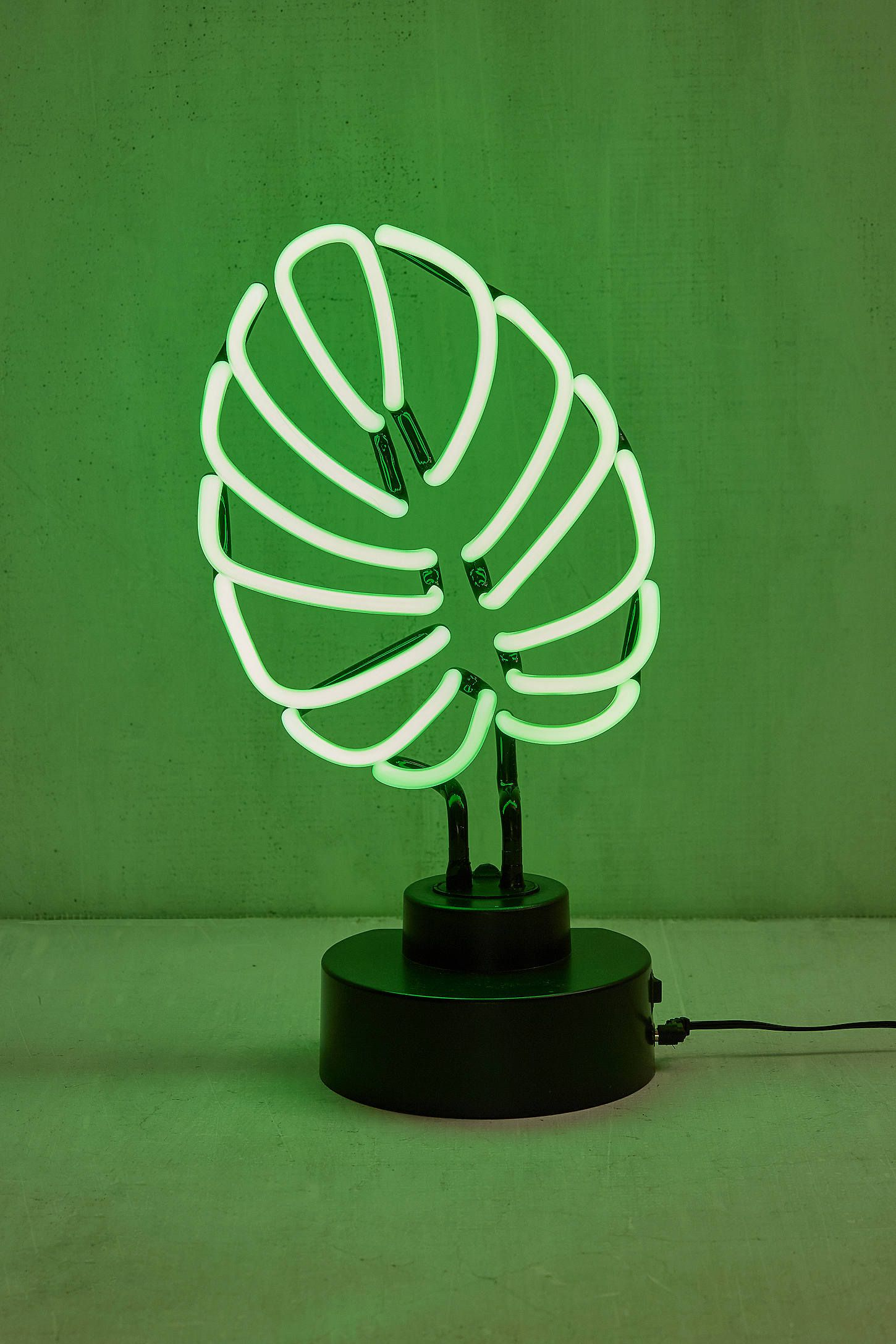Neon Table Light: Monstera Leaf Neon Sign Table Lamp