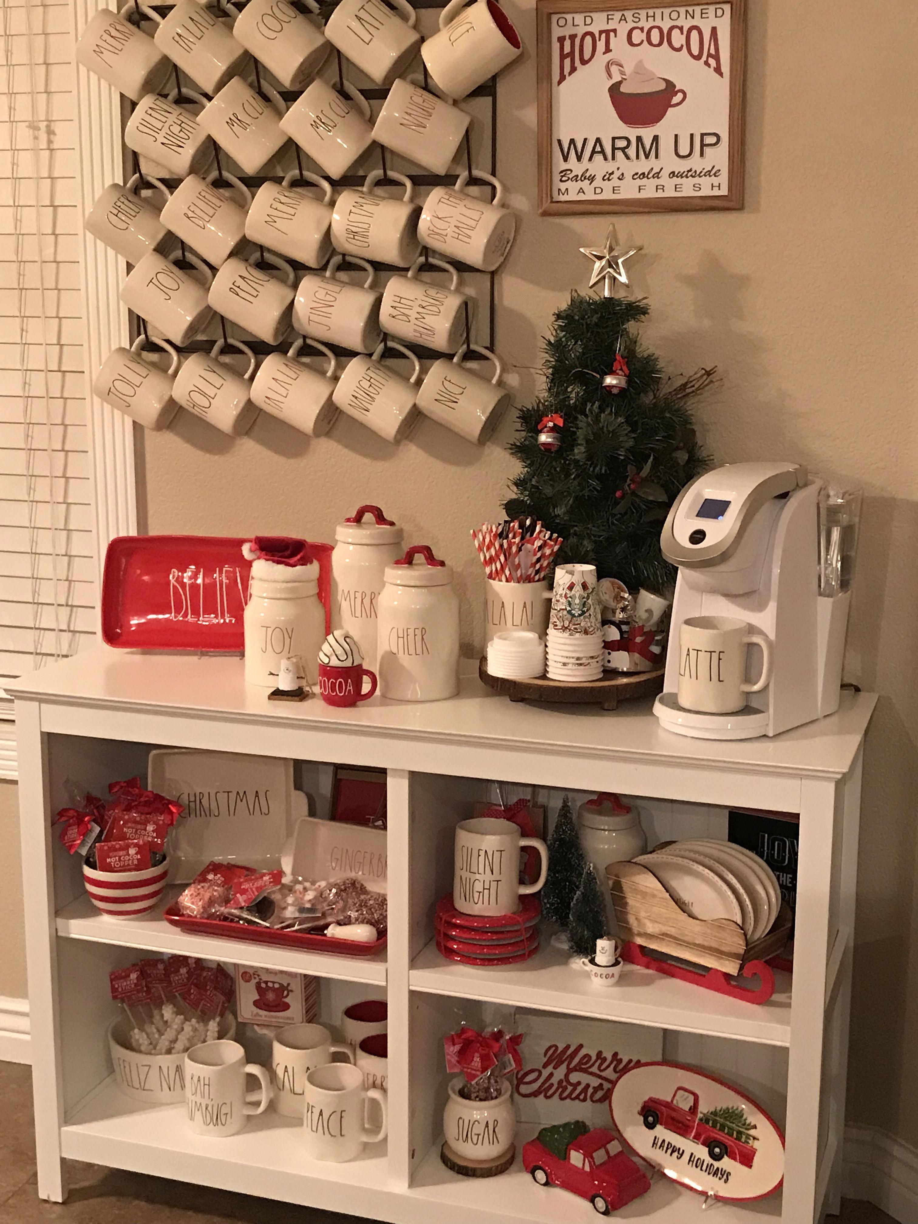 It S Beginning To Look Like Christmas Raedunn Raedunnclay Raedunnchristmas Cocoabar Homebardecorati Coffee Bar Home Home Coffee Stations Christmas Coffee