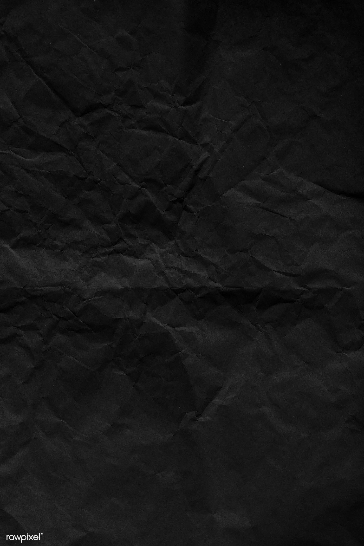 Crumpled Black Paper Textured Background Free Image By Rawpixel Com Katie In 2020 Black Paper Texture Black Texture Background Paper Texture