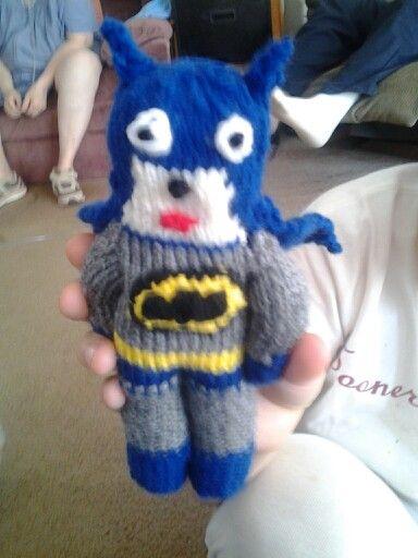 Knitted Batman Doll Classic Batman My Knitting Creations
