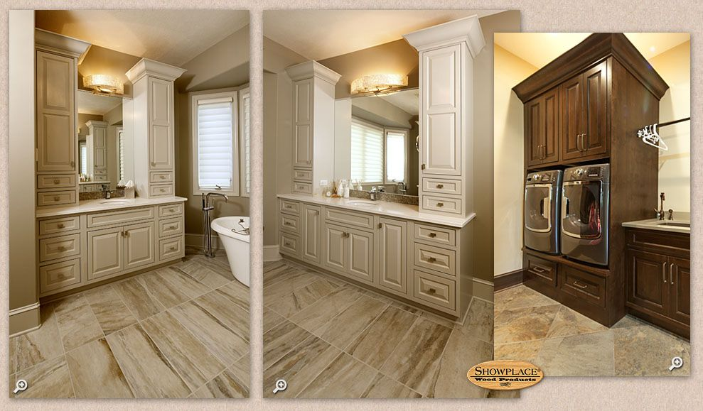 Painting And Distressing Bathroom Cabinets the large master bath is home to facing showplace vanity creations