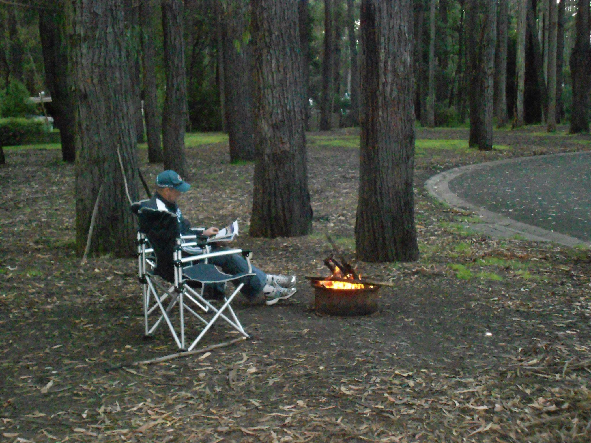 Campsites, Rawson Caravan Park, Rawson, Victoria