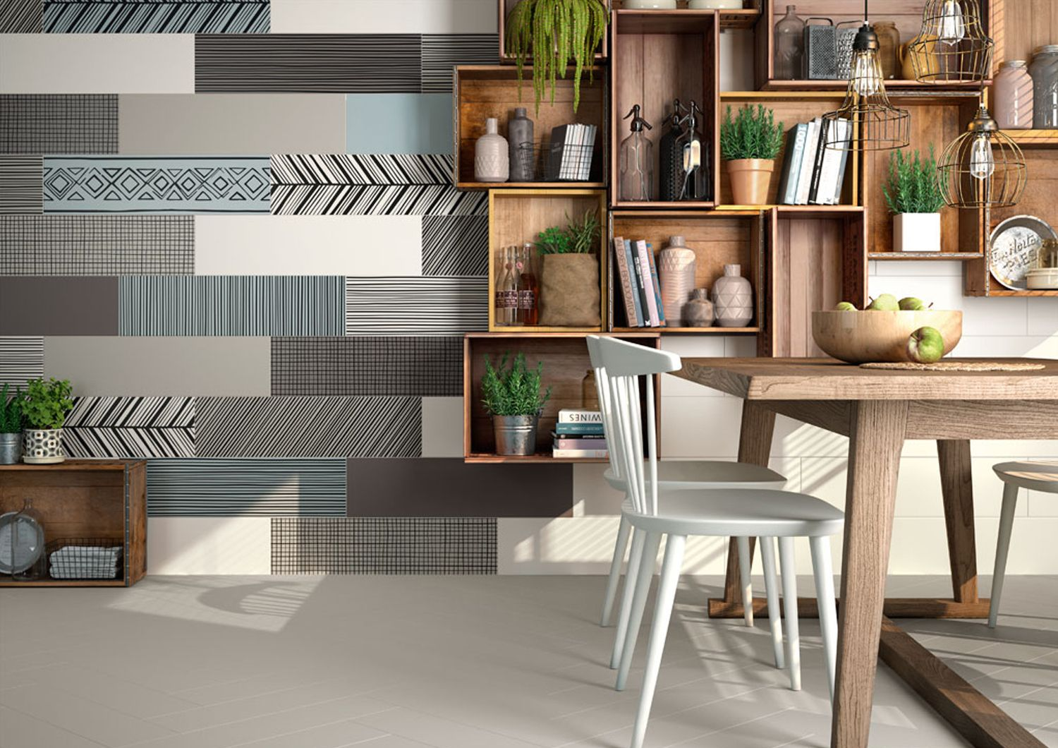 cafe decoration idea feature wall with takeno tiles from ape