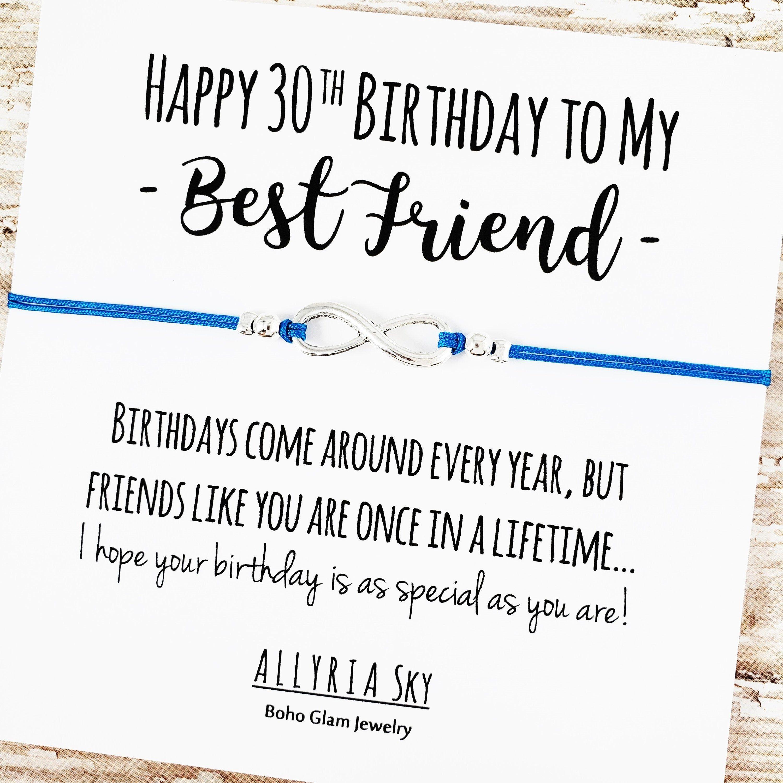 Happy 30th Birthday Best Friend Bracelet Best Friend 30th Etsy 30th Birthday Cards Happy 30th Birthday My Best Friend S Birthday