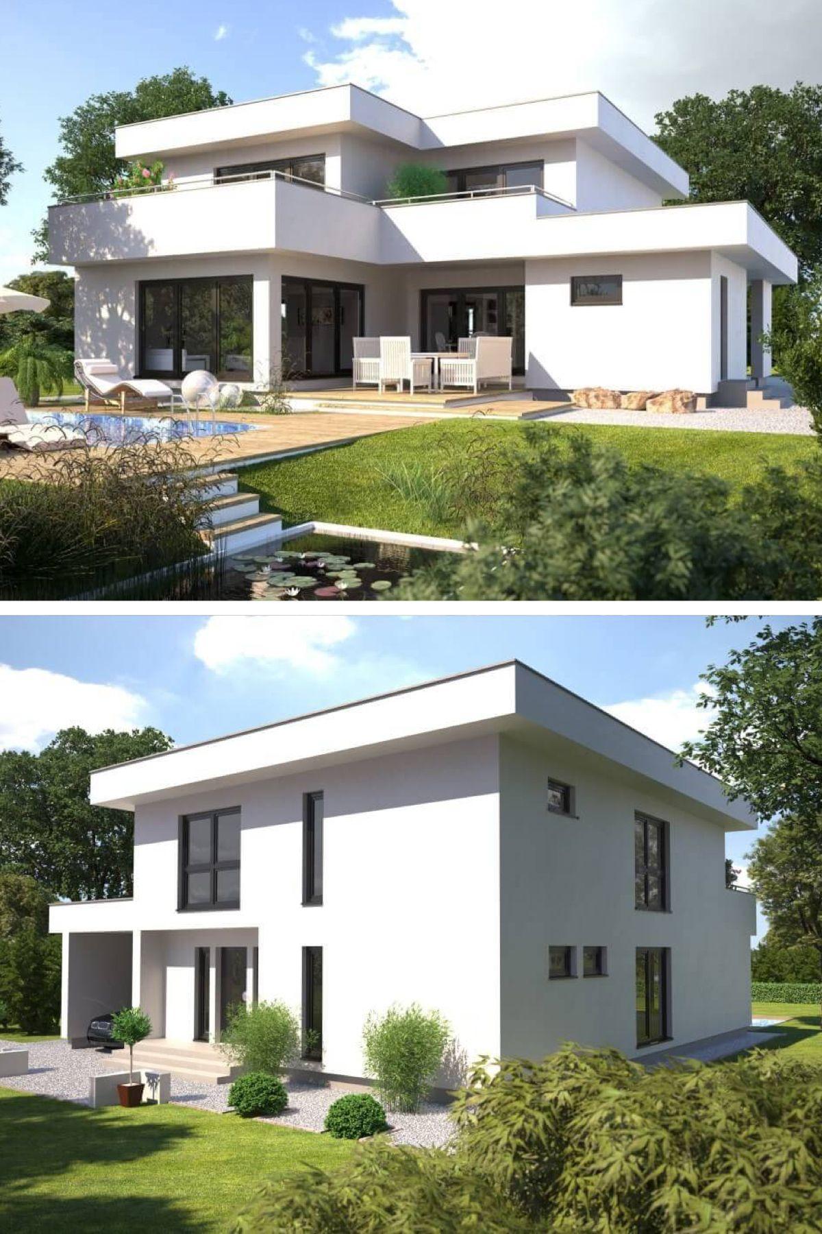 Superb Stadtvilla Modern Bauhaus Stil Mit Flachdach Architektur   Design  Einfamilienhaus Hanlo Hommage 246 Von