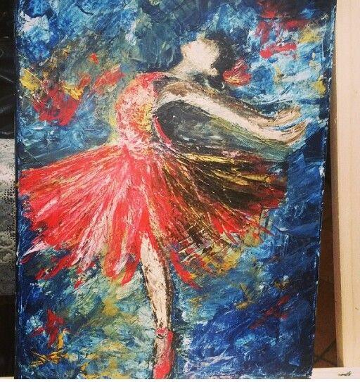 Eleganza,  acrilico su tela di Isabella Zingarini