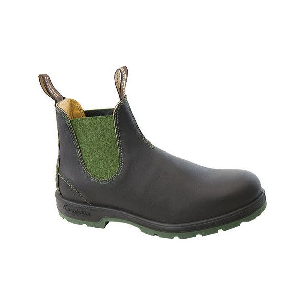 Blundstone Super 550 Series Boot - Stout Brown/Olive (225 CAD) ❤ liked on  Polyvore featuring shoes, boots, real leather boots, brown boots, genuine…