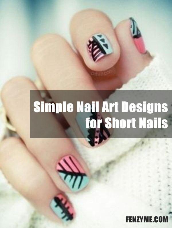 55 Simple Nail Art Designs for Short Nails: 2016 | Simple nail art ...