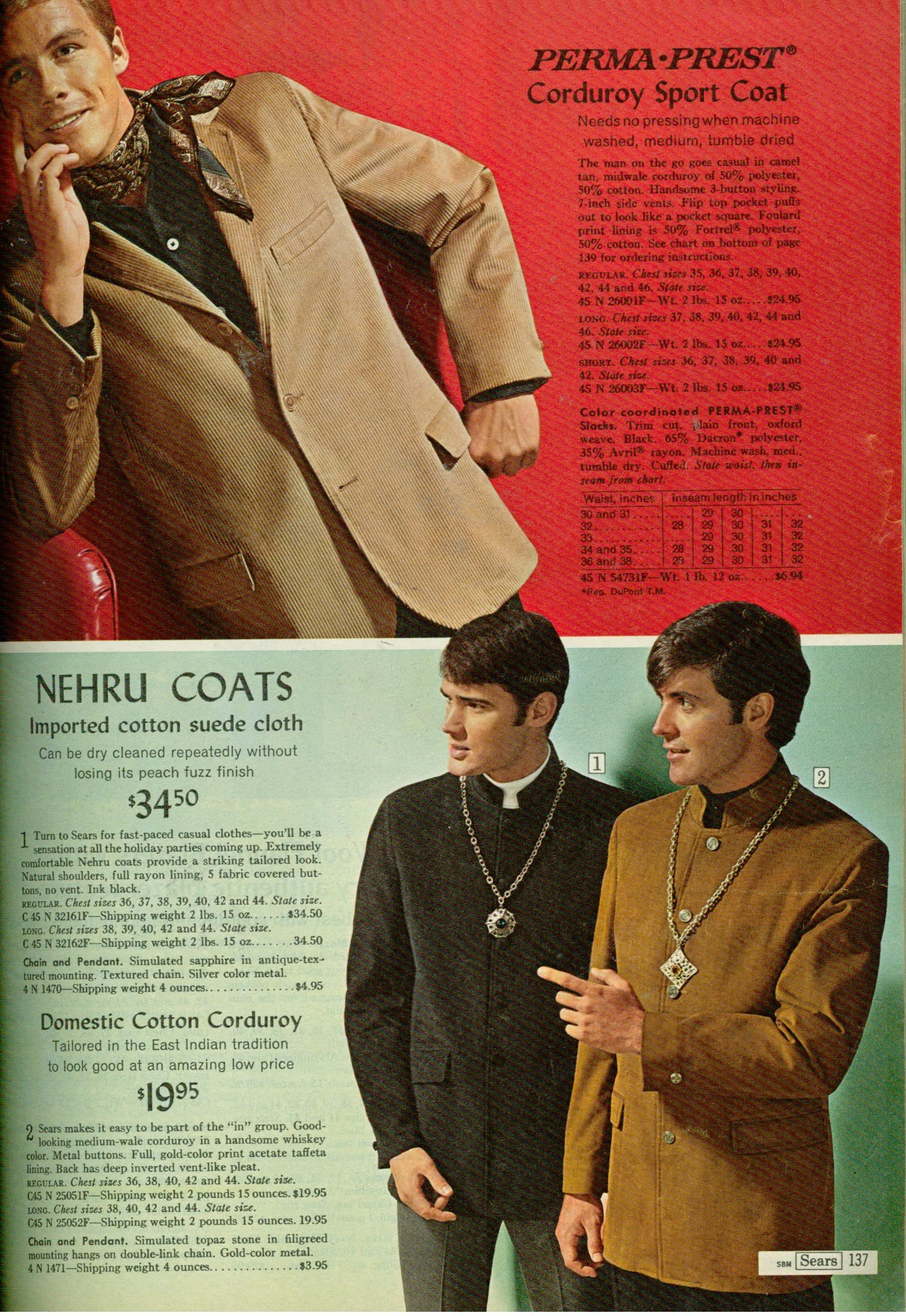 Vintage clothes fashion ads of the 1940s page 22 - Men S Vintage Fashion Sears 1968