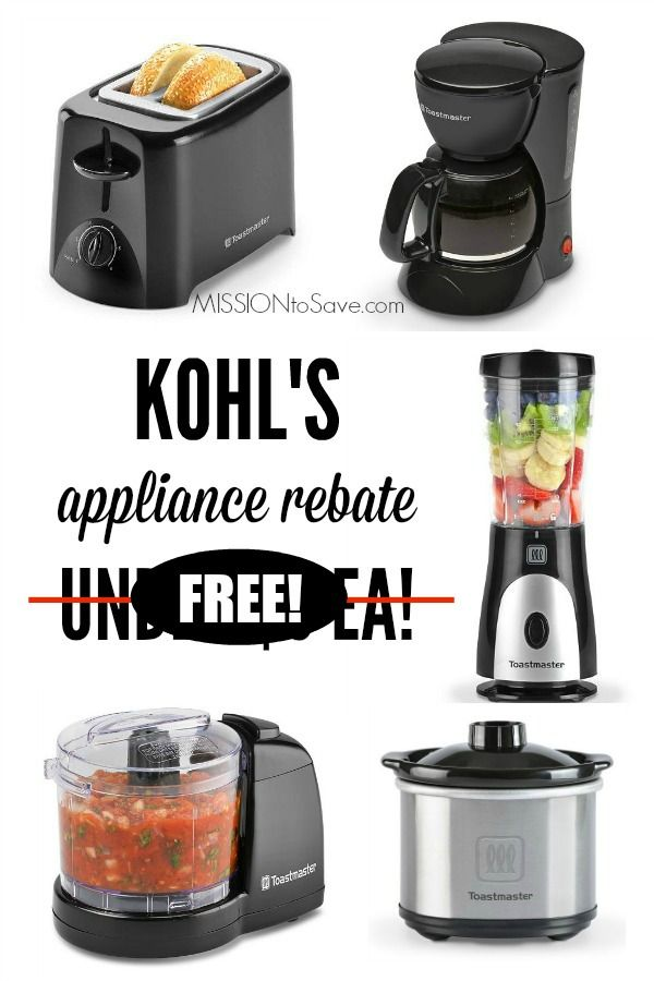 Hot Kohl S Small Appliance Rebate Offer 3 Free Pre Black Friday