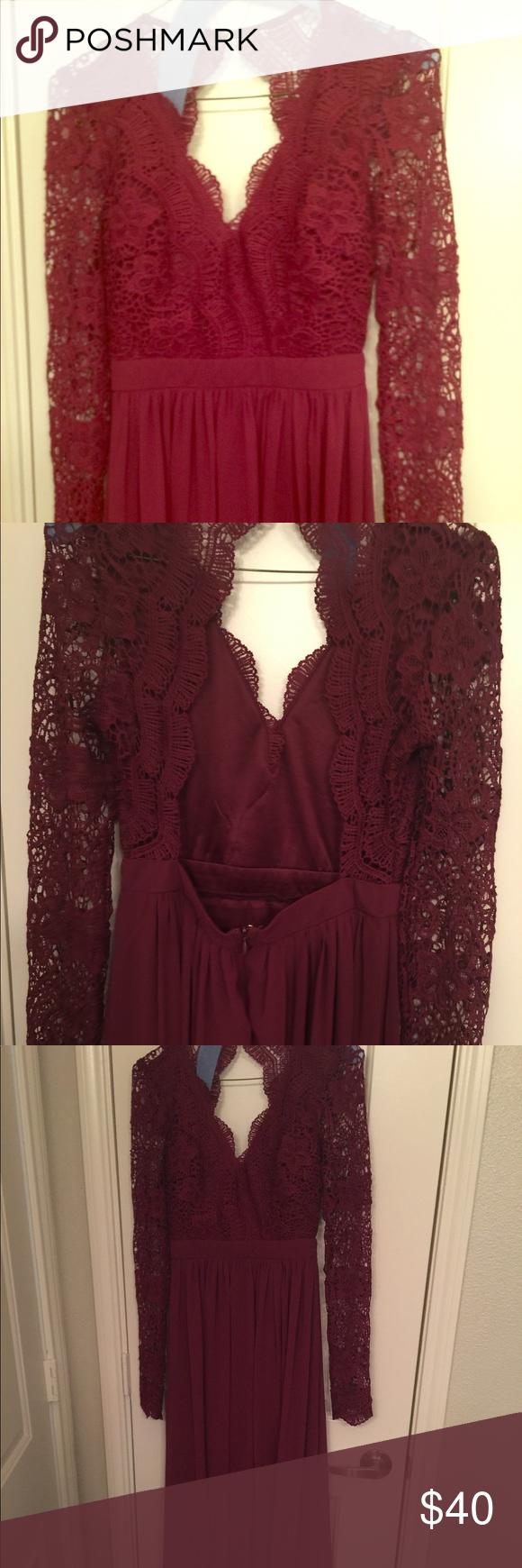 Eveningformal dress never been worn maroon long formal evening