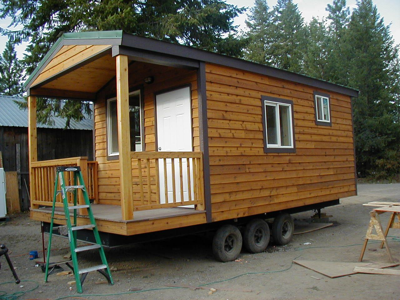 Assisted Living Cabin: Tiny Portable Cedar Cabins - Tiny