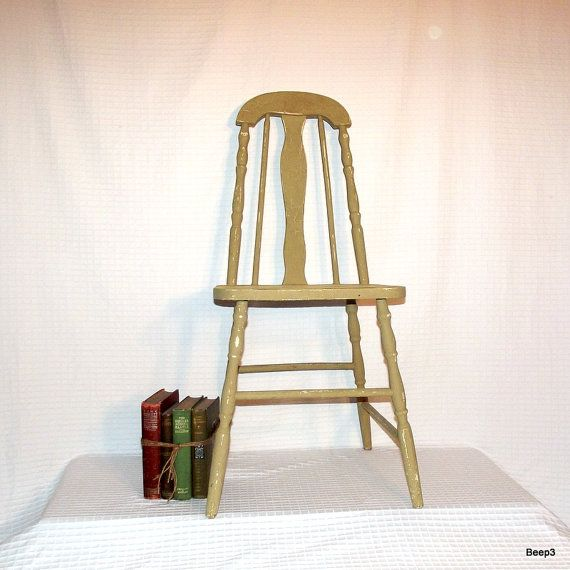 Antique 1930's Wood Taper Back Kitchen Chair by beep3 on Etsy, $165.00 - Antique 1930's Wood Taper Back Kitchen Chair By Beep3 On Etsy