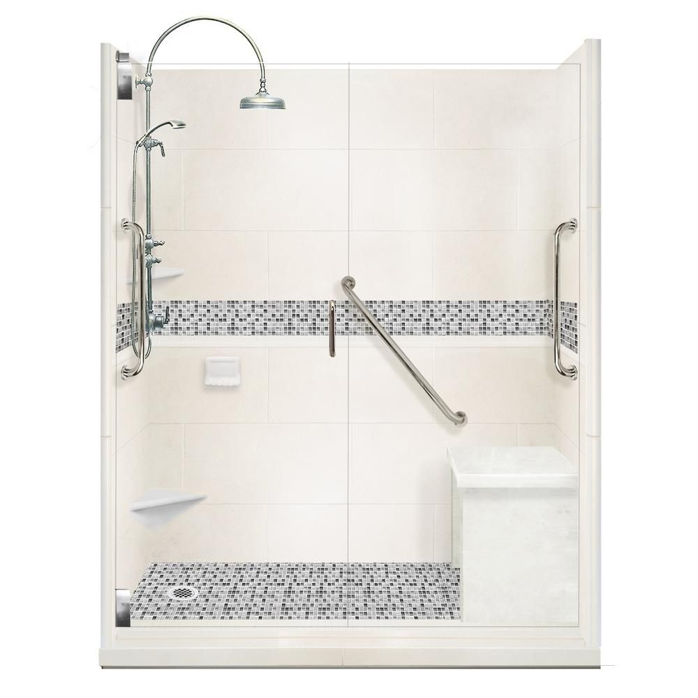 American Bath Factory Del Mar Freedom Luxe Hinged 42 In X 60 In