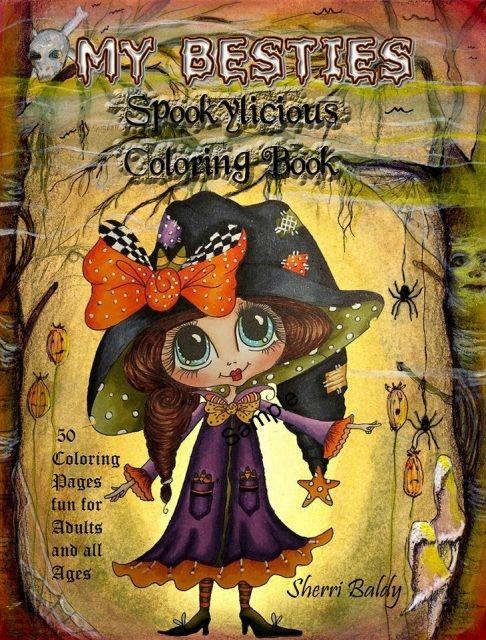 Coloring Book Sherri Baldy My Besties Spookylicious Coloring Book