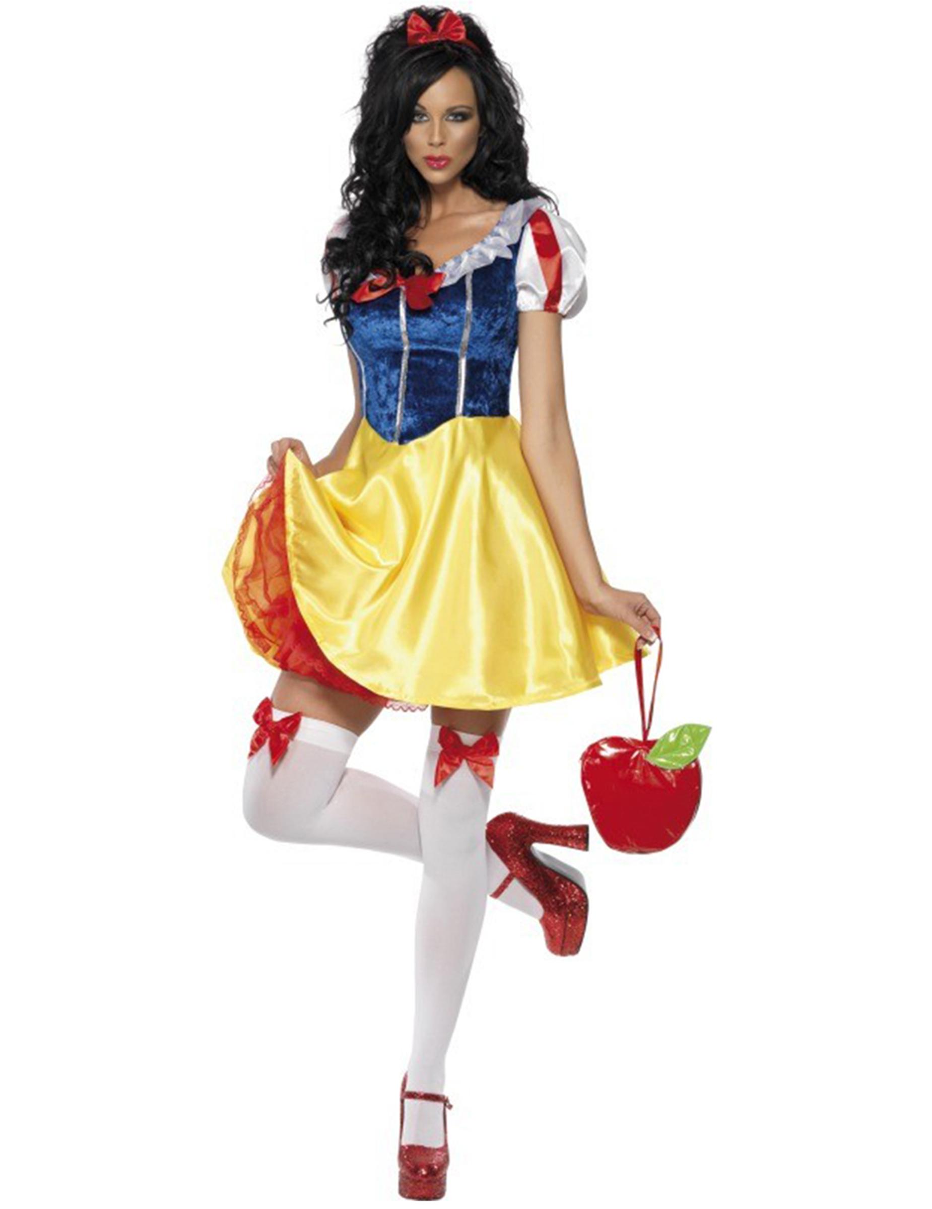 Da Donna Halloween Donna Biancaneve Fiaba Costume Outfit S//M//L