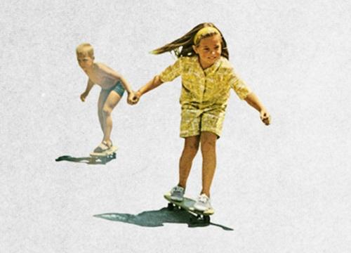 Cute skateboarding vintage-ness.