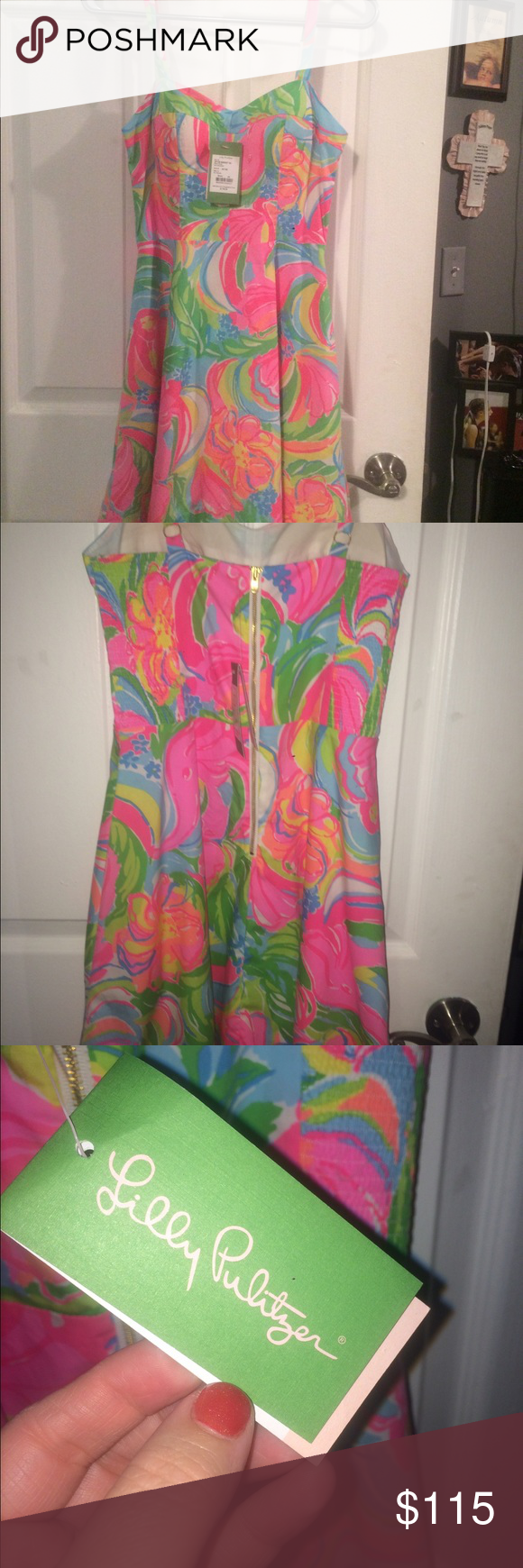 """Lilly Pulitzer """"Willow"""" dress NWT Lilly Pulitzer """"Willow"""" sun dress. Never worn.  Size 00. Originally paid $178. Knee length or just above the knee. Perfect dress for the approaching season! Lilly Pulitzer Dresses Mini"""