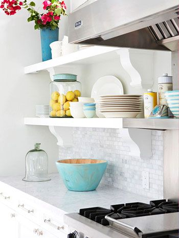 colour accents in the kitchen