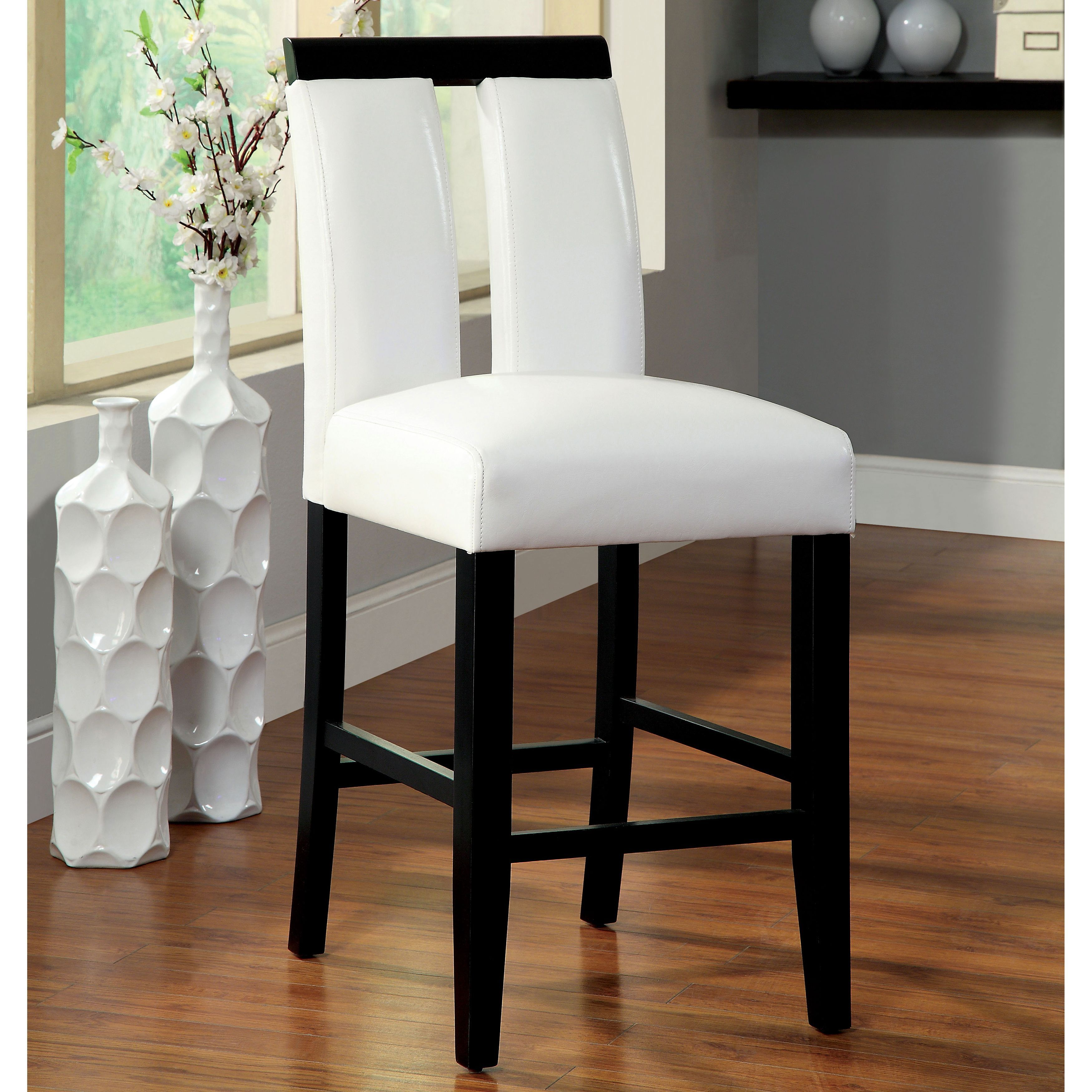 furniture of america lumina two tone counter height chair set of 2