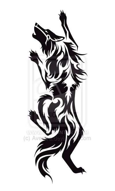 de0ed8e329370 Climbing Wolf Tribal Tattoo by Avestra on DeviantArt | tattoos ...