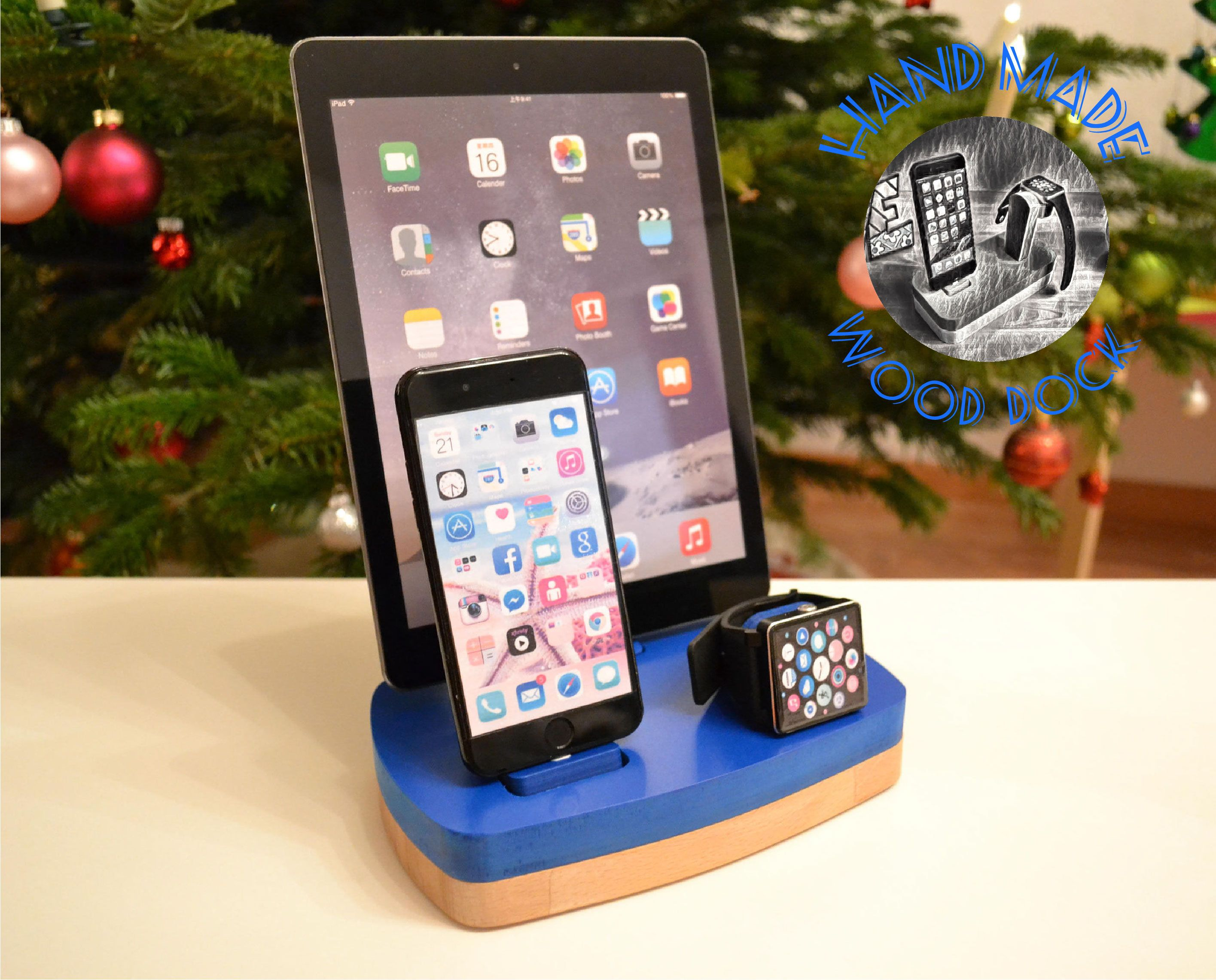 iDOQQ TRE apple watch stand iphone iPad watch docking station apple ...