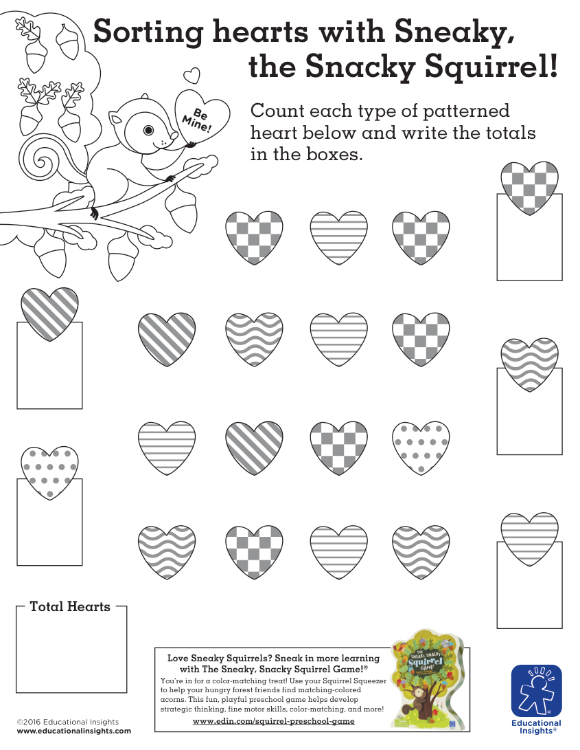 Valentines Fun You Can Count On Free Downloadable Preschool Worksheets Beyond The Toy Chest Activity Sheets For Kids Valentine Worksheets Math Valentines [ 1091 x 845 Pixel ]