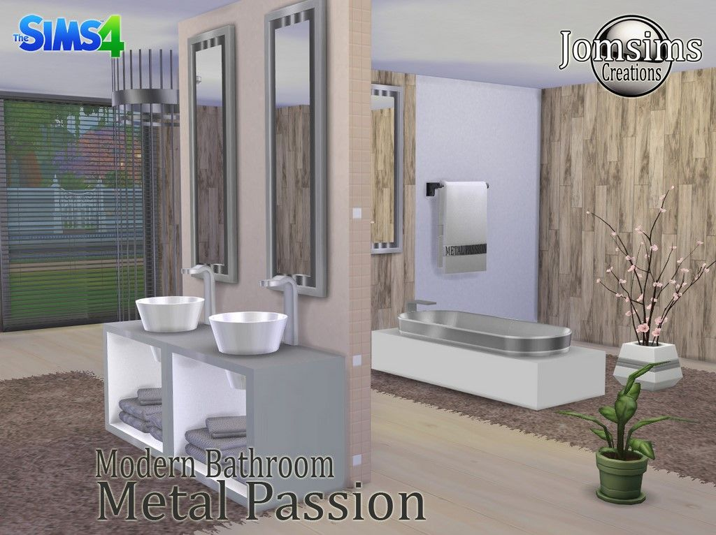 Sims 4 metal passion bathroom set aaa sims 4 cc for Bathroom ideas sims 4