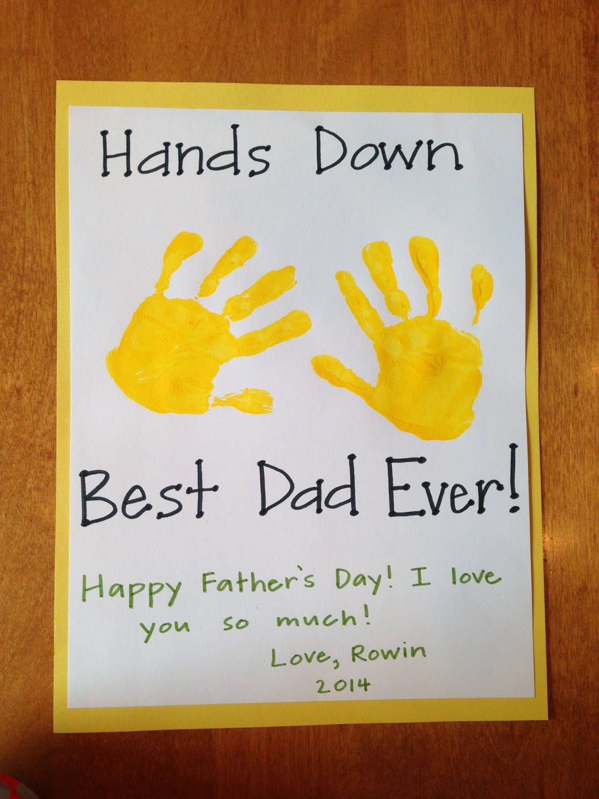 Homemade Father 39 S Day Card Teach Play Love Pinterest