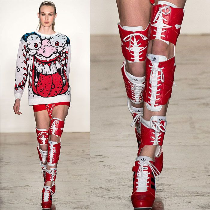 Cool or Crazy? Jeremy Scott's Thigh-High Fashion Sneaker Boots ...