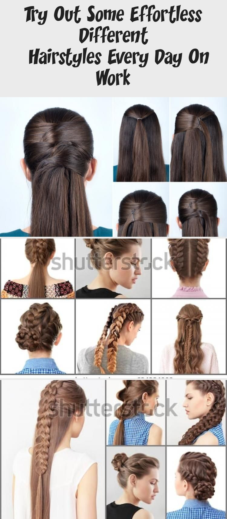 Try Out Some Effortless Different Hairstyles Every Day On Work 7 Easy Everyday Hairstyles For Each D In 2020 Everyday Hairstyles Hair Styles Easy Everyday Hairstyles