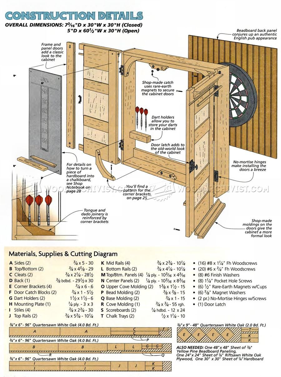 Dartboard Cabinet Plans F96 About