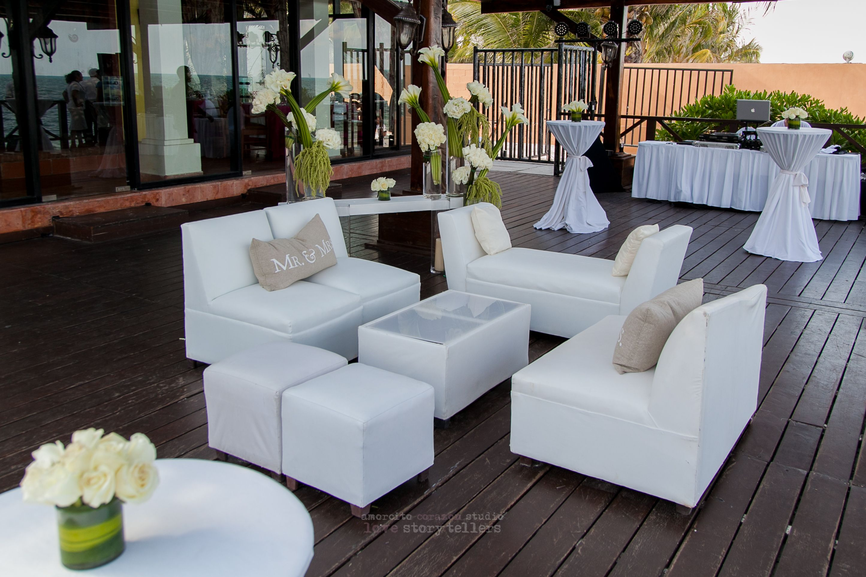 Fun Lounge Chairs add lounge chairs to your cocktail hour setup for a fun and