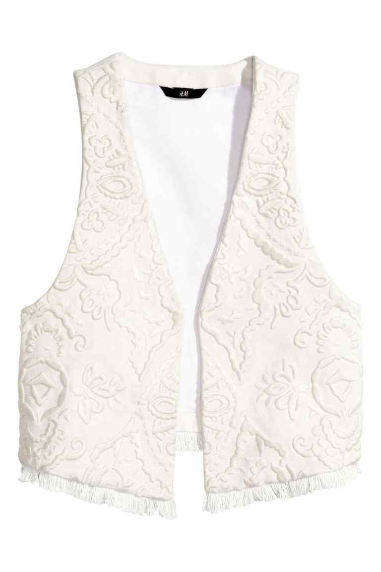 Chaleco bordado | H&M | alta costura | Pinterest | Chalecos mujer ...