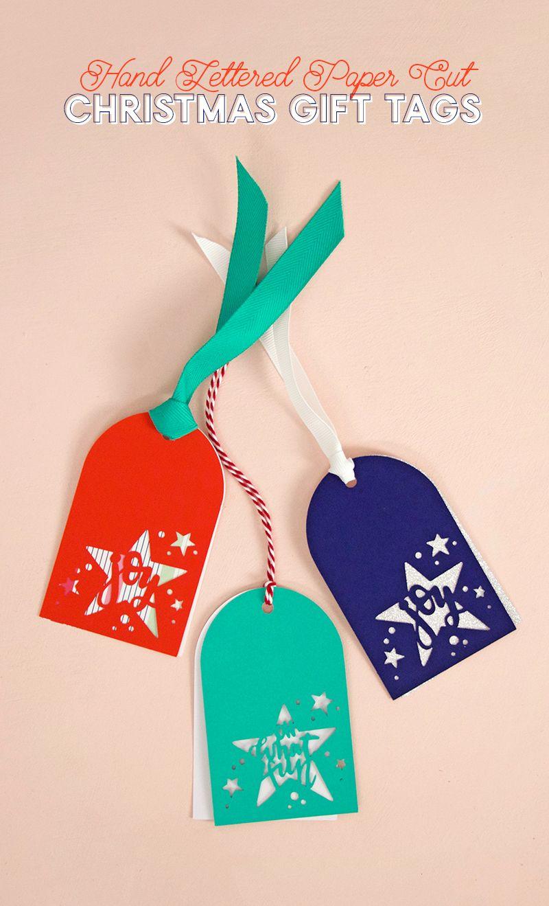 Christmas gift tag svg cut