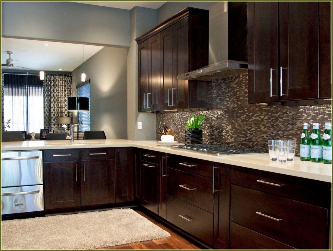 Idyllic Espresso Rich Cherry Finish Kitchen Cabinet ...