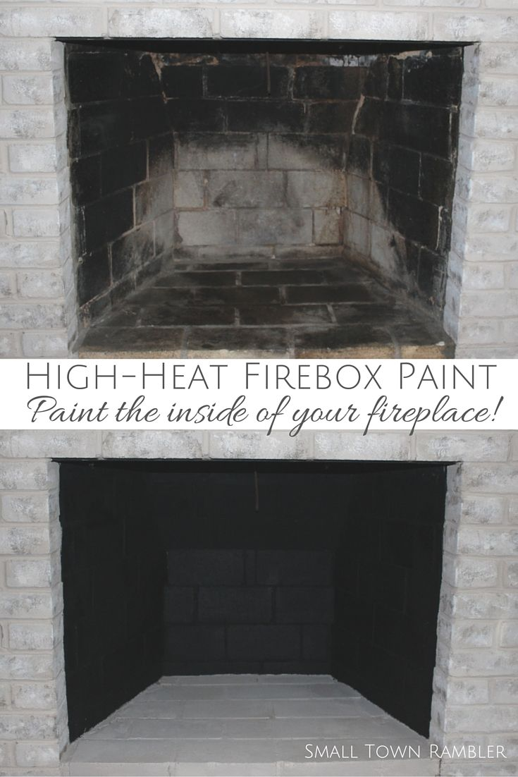 fireplace makeover painting the firebox and mantel living rooms
