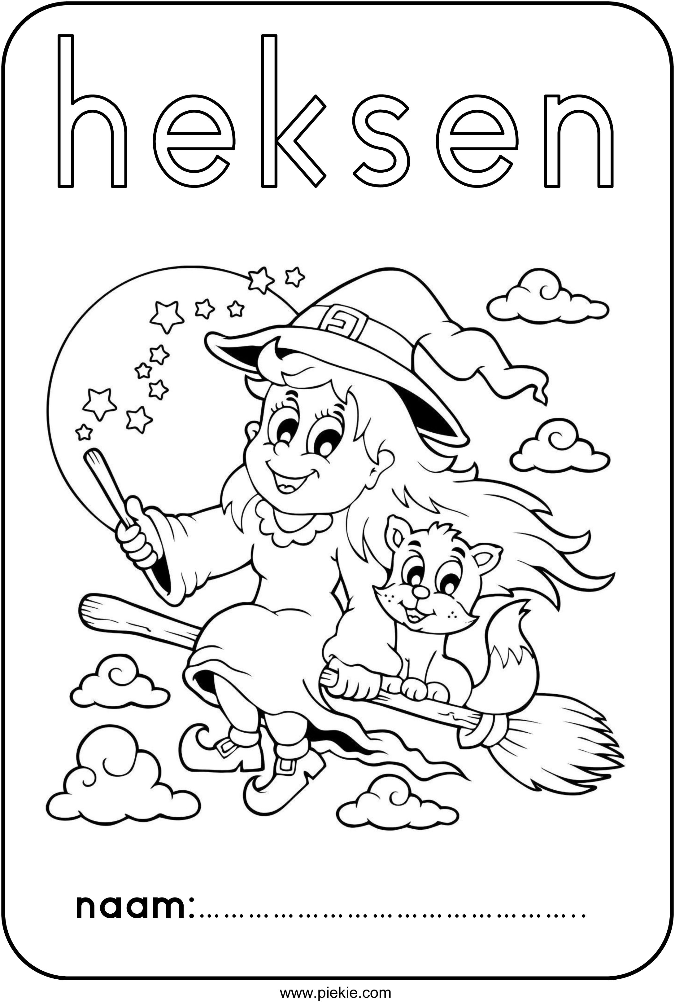 werkboekje heksen griezelig pompoenen
