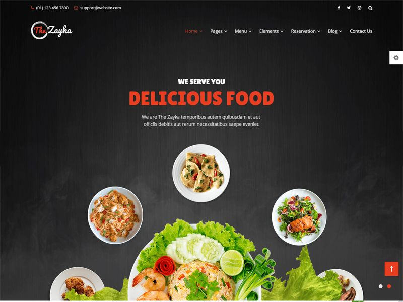 The Zayka is a Restaurant Free HTML Template for