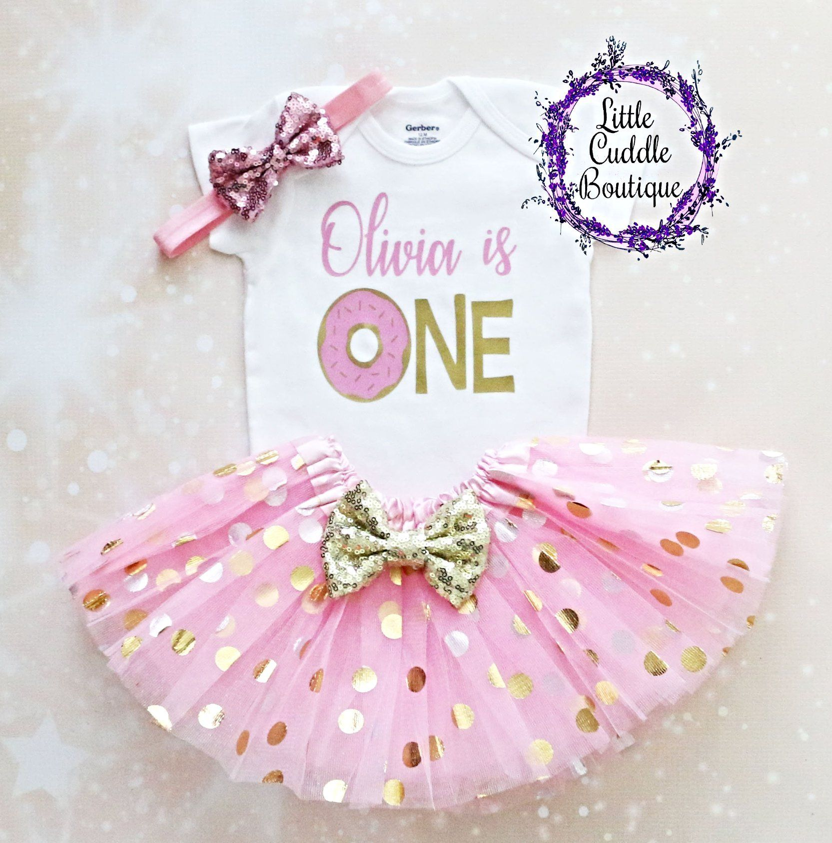 1439ab693 Personalized Donut First Birthday Tutu Outfit, Donut birthday party ideas,  Donut birthday theme, Doughnut, Donut onesie, First birthday donut ideas,  ...