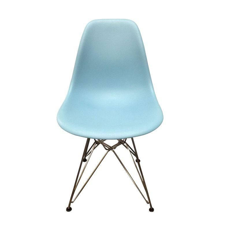 Eames Blue Molded Plastic Side Chair | Pinterest | Side chair ...