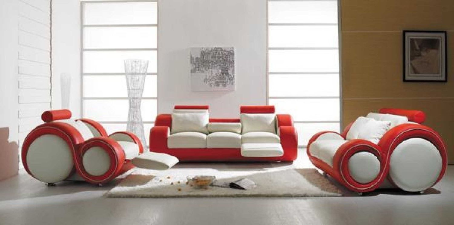 Popular choice for your vivid colorful living room, yours at a special special price. Red And White Leather Sofa | Best Collections of Sofas and ...