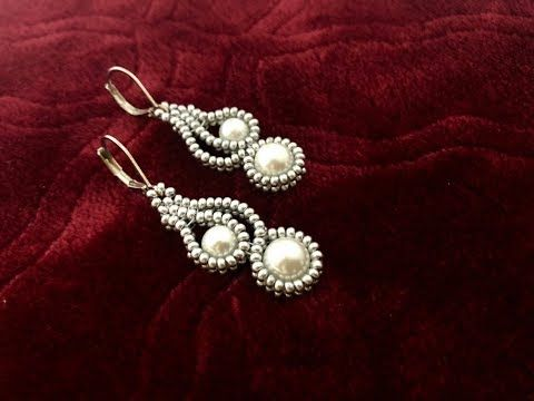 (97) Mehndi Design Inspired Beaded Earrings || How to make Beaded Earrings || Pearl Earrings - YouTube #beads
