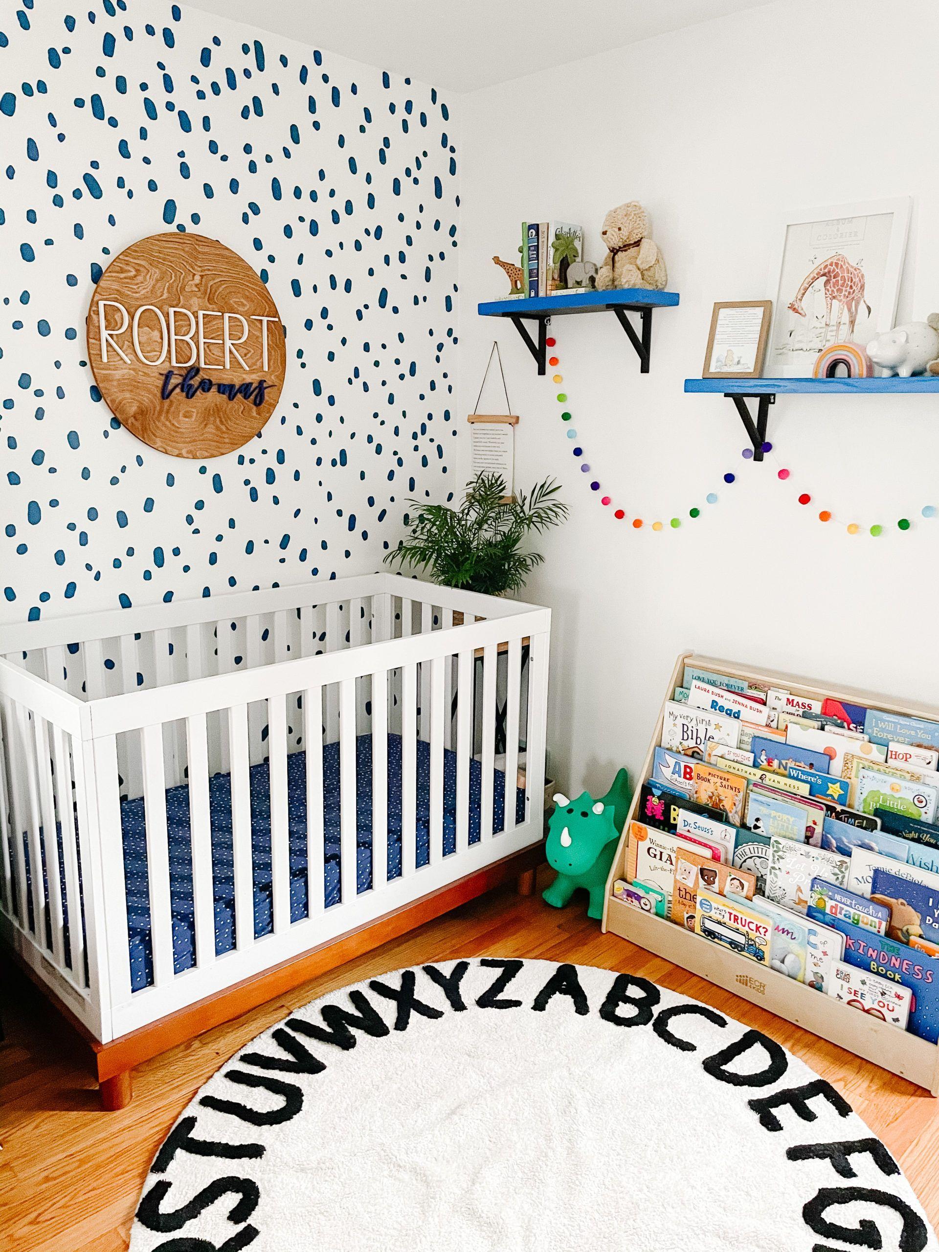 Farmhouse Bedroom Decor Leaves Boho Custom Play Mat Kids Room Rugs Rustic Playroom Rug Personalized Round Rug Customized Nursery Carpet