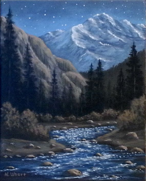 Pin By Ann Ubert On Mountain Paintings Landscape Paintings Acrylic Mountain Paintings Art Painting