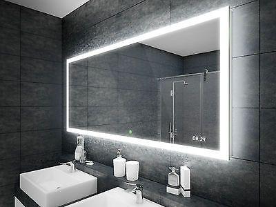 Lichtspiegel Led Badspiegel Beleuchtung Mit Touch Schalter Und Uhr