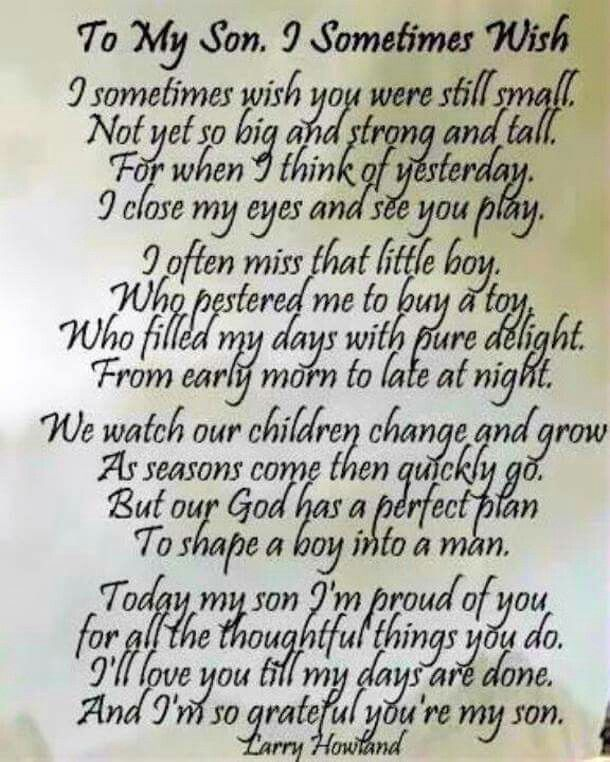 Isaac To My Son I Sometimes Wish Poem By Larry Howland This Is Lovely Such A Beautiful Idea Print And Frame For Graduation Or The Wedding Day