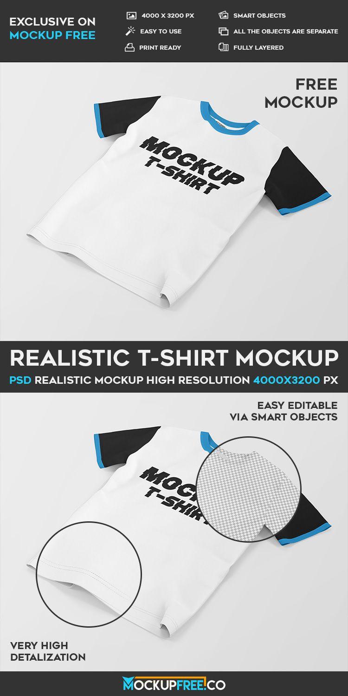 Download Realistic T Shirt Free Psd Mockup Download Mockup Free Psd Mockup Psd Free Psd