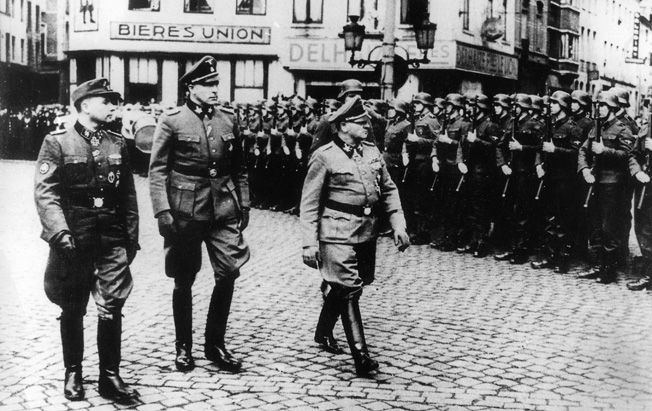 GERMAN THIRD REICH WW2 LEON DEGRELLE BELGIAN WALLONIE WEHRMACHT PHOTO